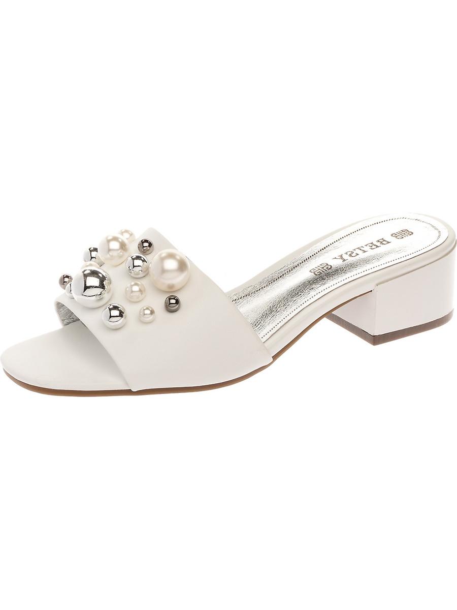 Мюли на каблуке, женские 997010/04-04 без рядов